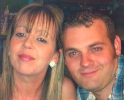 Emma and Mark Corcoran, who were threatened by the gang in front of their three small children