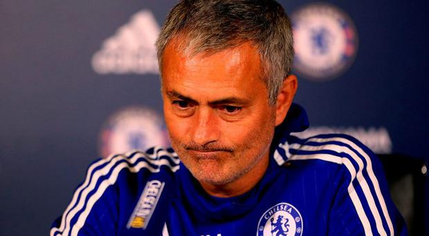 Chelsea manager Jose Mourinho talks during his press conference.