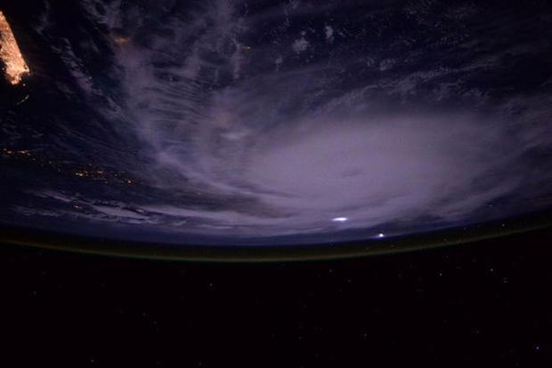 An awesome image of Hurricane Joaquin taken from the International Space Station Credit: NASA