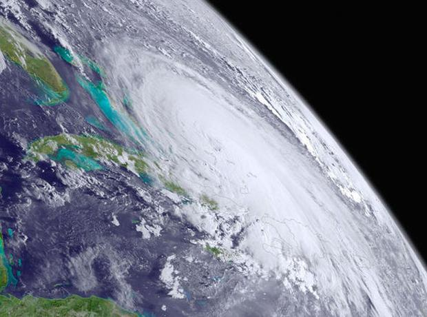 The superstorm as seen from space Credit: NASA