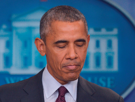 US President Barack Obama: 'someone who wanted to inflict harm had no trouble getting their hands on a gun'
