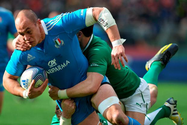Sergio Parisse, in action during Italy's victory over Ireland in 2013, has been the Azzurri's standard-setter for years