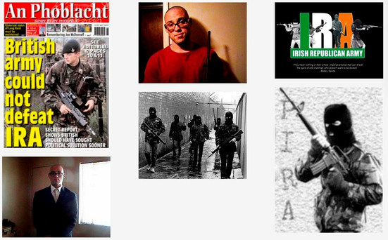 A screen-grab of the MySpace page of multiple killer Chris Harper-Mercer, which he adorned with images glorifying the IRA