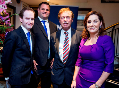 From left: John Kennedy, Councillor Neale Richmond, TD Alan Shatter and Councillor Josepha Madigan at the Fine Gael selection convention in Dublin last night Photo: Arthur Carron