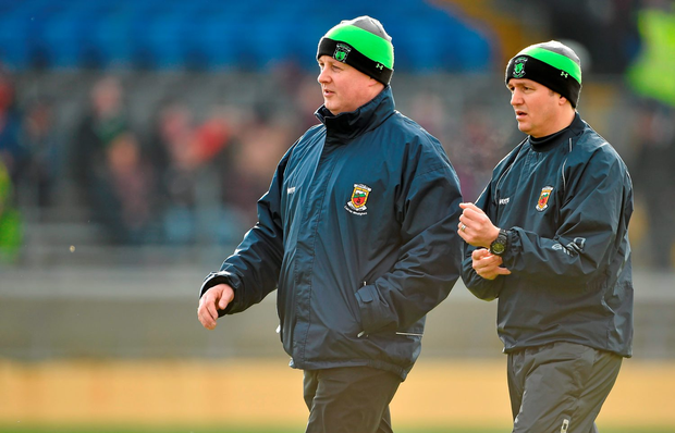Former Mayo joint-managers Pat Holmes (left) and Noel Connelly: 'From the early weeks of their tenure there had been whispers that the players were unhappy'that