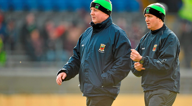 Former Mayo joint-managers Pat Holmes (left) and Noel Connelly: