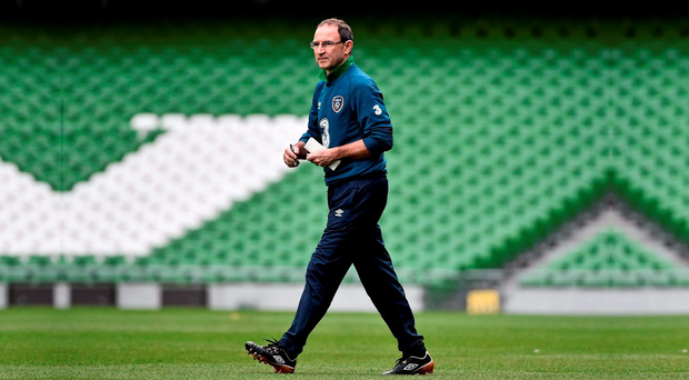 Republic of Ireland manager Martin O'Neill during squad training