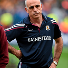 6 September 2015; Galway manager Anthony Cunningham reacts after defeat to Kilkenny. GAA Hurling All-Ireland Senior Championship Final, Kilkenny v Galway, Croke Park, Dublin. Picture credit: Diarmuid Greene / SPORTSFILE