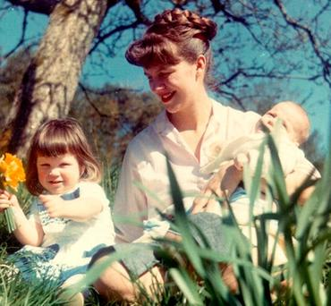 CHILDHOOD HAPPINESS SHATTERED: Sylvia Plath, who later took her own life, with the children, Nicholas and Frieda