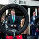 CAPITAL SPENDING: Minister for Transport Paschal Donohoe at the launch of the Road Safety week, has indicated his support for the €2.4bn Metro project but there's no sign of any funding coming down the line