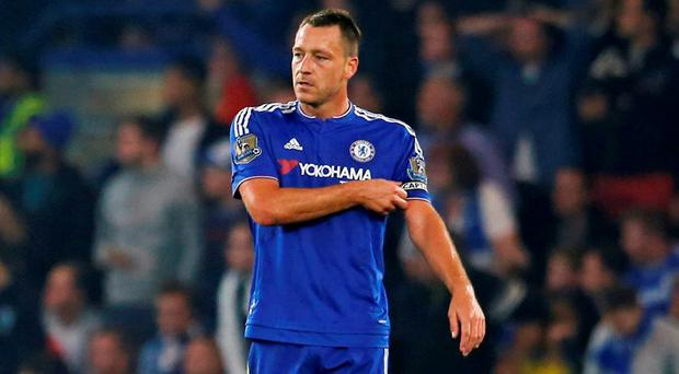 Chelsea's John Terry looks dejected after Saido Mane (not pictured) scored the second goal for Southampton Action Images via Reuters / Paul Childs