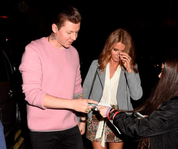 Professor Green & Millie Mackintosh among guests at The Late Late Show, RTE, Dublin, Ireland - 02.10.15. Pictures: G. McDonnell
