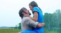 The Notebook's Noah (Ryan Gosling) and Allie (Rachel McAdams)