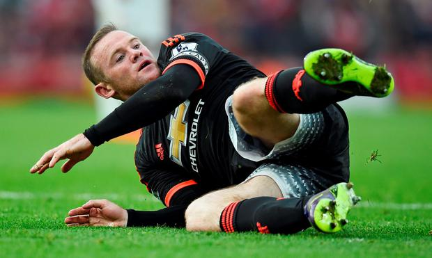 Manchester United's Wayne Rooney during Arsenal defeat