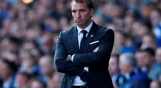 Football - Everton v Liverpool - Barclays Premier League - Goodison Park - 4/10/15 Liverpool manager Brendan Rodgers Action Images via Reuters / Lee Smith Livepic