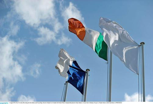 The Tri Colour flies at a GAA match