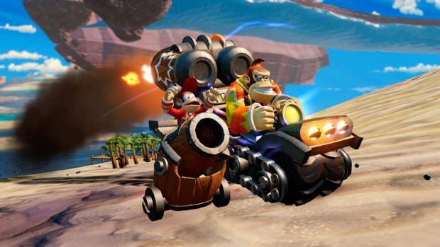 Skylanders: Superchargers - The Wii version of the game features a playable Donkey Kong