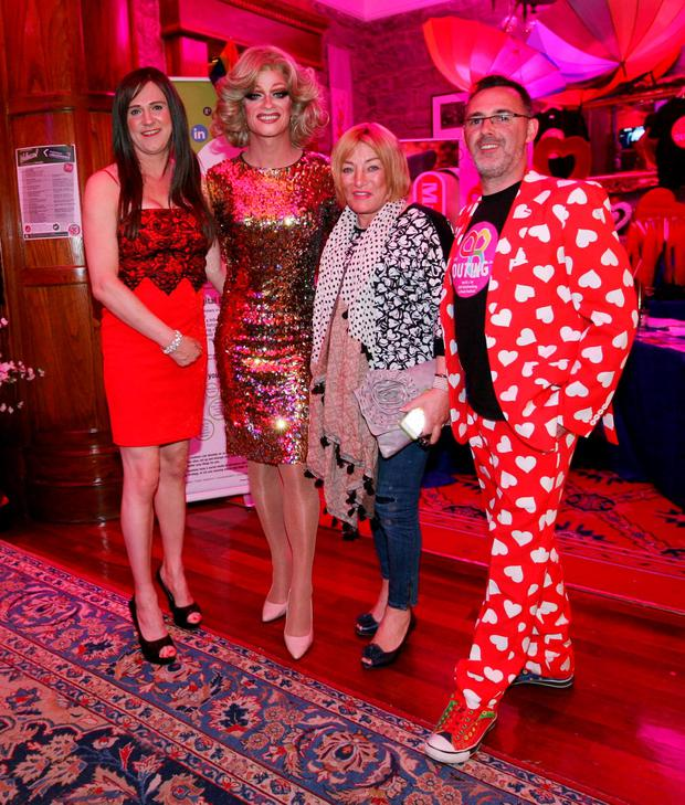 Christina Riley, Miss Panti, Kellie Maloney and Eddie McGuiness at The Outing LGBT festival in Lisdoonvarna. Photos: Brian Farrell