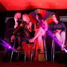 Brendan Courtney and contestants taking part in Blind Date on stage