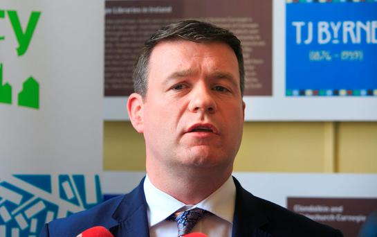 Environment Minister Alan Kelly unveiled plans for more than 500 homes to be built as part of a public private partnership