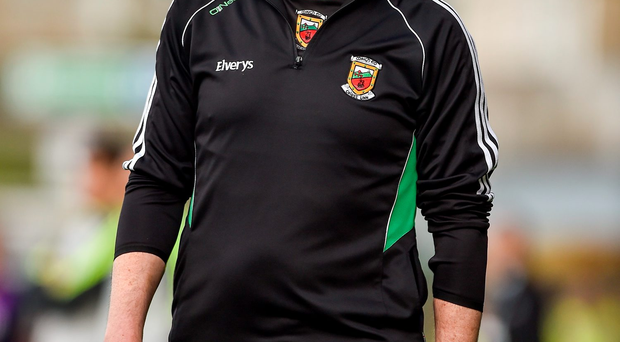 30 August 2014; Mayo manager James Horan during the game. GAA Football All Ireland Senior Championship, Semi-Final Replay, Kerry v Mayo, Gaelic Grounds, Limerick. Picture credit: Barry Cregg / SPORTSFILE