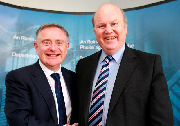 Ministers Brendan Howlin and Michael Noonan