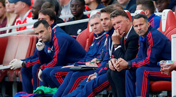 Manchester United's Louis van Gaal during Arsenal defeat