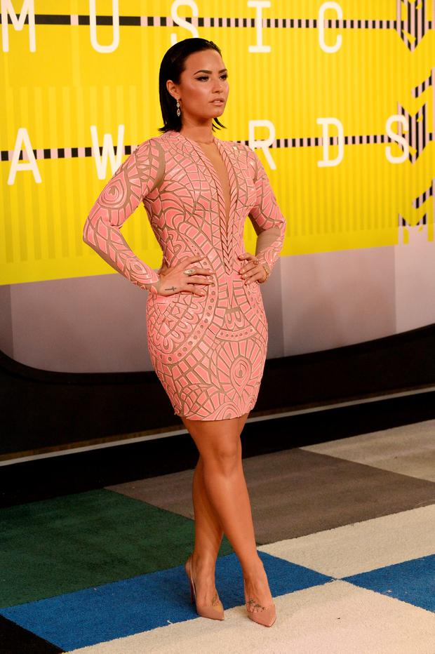 Demi Lovato attends the 2015 MTV Video Music Awards at Microsoft Theater on August 30, 2015 in Los Angeles, California. (Photo by Frazer Harrison/Getty Images)