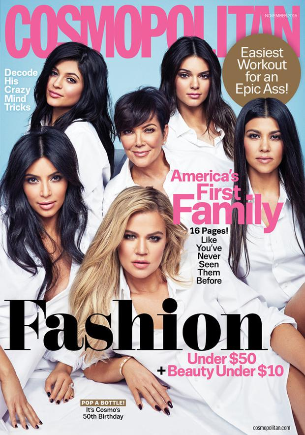 The Kardashians cover Cosmopolitan's November issue