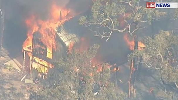 Credit: News 9 (Australia) A house in Victoria is engulfed in flames