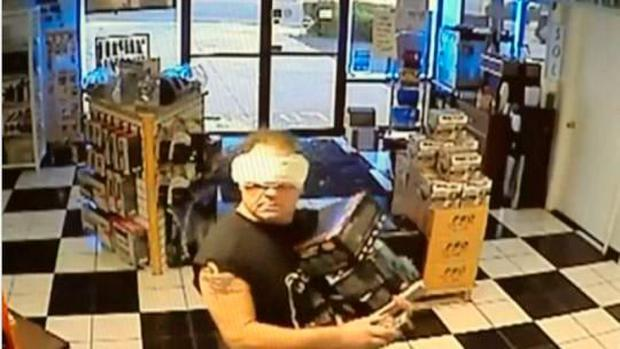 Gary Victor was caught soon after robbing the store Credit: San Bernardino County Sheriff's Department