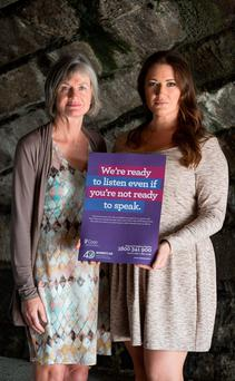 Women's Aid launches its 'Don't Be Afraid' public awareness advertising campaign. Pictured at the launch Elaine Crowley from TV3's Midday programme and Margaret Martin from Women's Aid?PIC PAUL SHARP/SHARPPIX