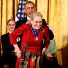 American President Barack Obama presents the Presidential Medal of Freedom to Meryl Streep, but the revered actress won't win any prizes for turning her back on feminism and reinforcing negative stereotypes