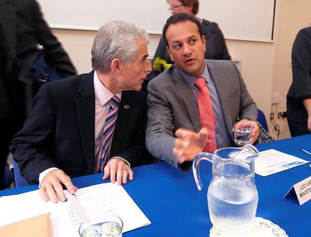 Leo Varadkar TD with INMO general secretary Liam Doran during a meeting with INMO representatives