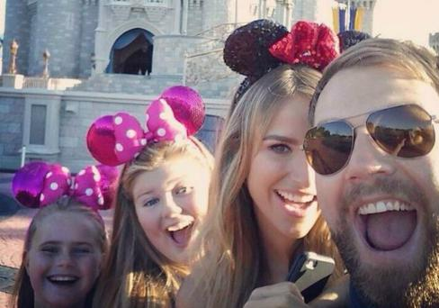 Brian McFadden with daughters Mollie and Lilly and estranged wife Vogue Williams.