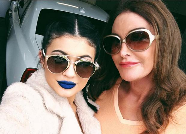 Kylie and Caitlyn Jenner