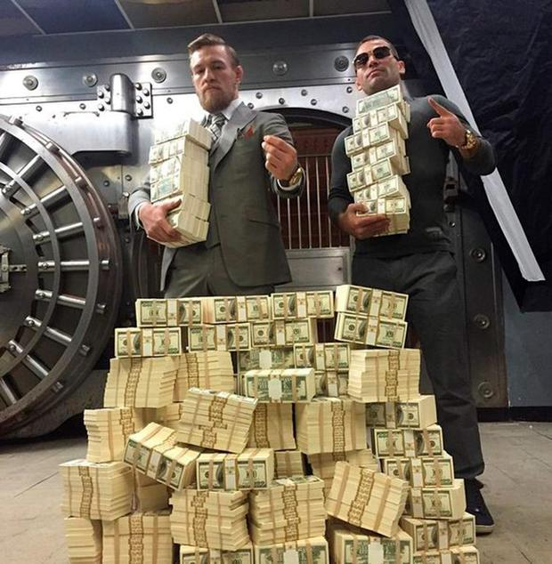 Conor McGregor likes his money
