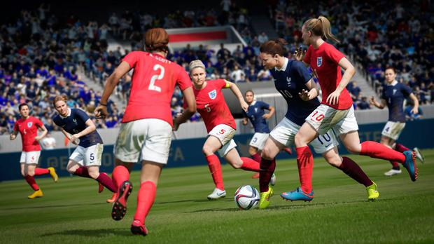 FIFA 16: The women's games plays subtly differently, less power but more measured