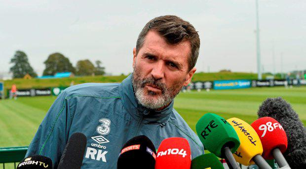 Republic of Ireland assistant manager Roy Keane during a press briefing