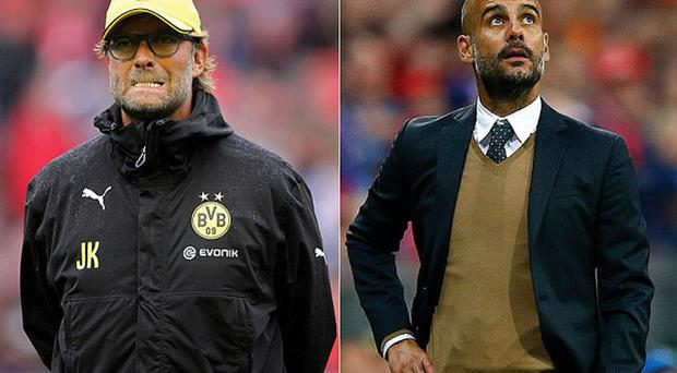 A waiting game: Jurgen Klopp was not prepared to wait until Pep Guardiola made a decision on his Bayern Munich future Photo: GETTY IMAGES