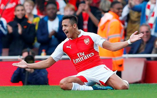 Alexis Sanchez was one of the first names on the teamsheet