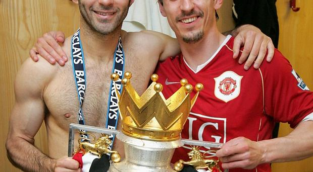 Former Manchester United team-mates Gary Neville and Ryan Giggs