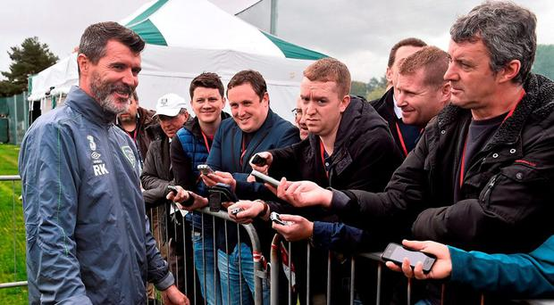 Republic of Ireland assistant manager Roy Keane during a press briefing this morning. Republic of Ireland Press Briefing, FAI National Training Centre, National Sports Campus, Abbotstown, Dublin. Picture credit: David Maher / SPORTSFILE