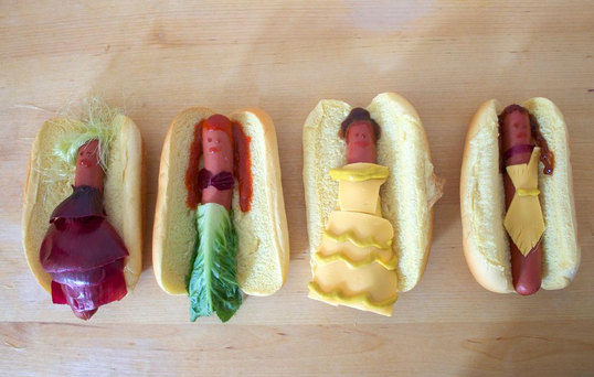 The incredible 'disney hotdogs' Credit: Twitter/Lucky Peach