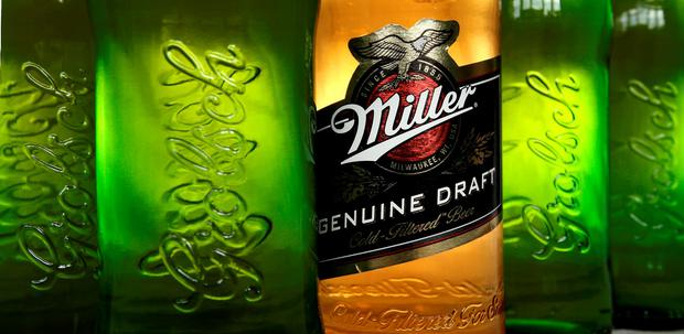 SABMiller beer Miller and Grolsch. Photo: PA