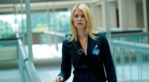Claire Danes portrays Carrie Mathison in a scene from the Showtime original series Homeland