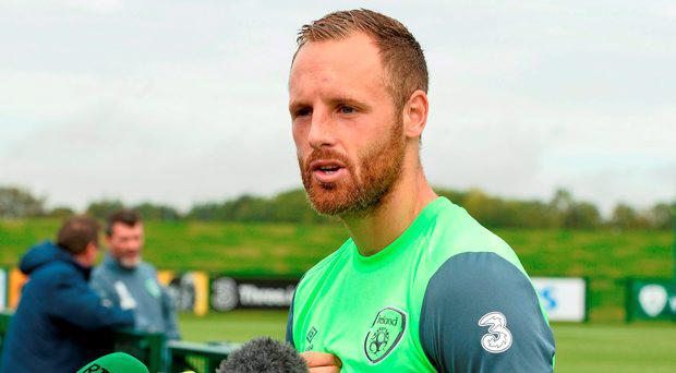 Republic of Ireland's David Meyler during a press briefing
