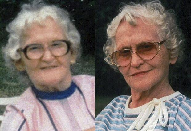 Kathleen (left) and Sheila both passed away at the weekend aged 95