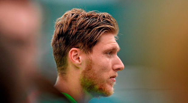 Republic of Ireland's Jeff Hendrick during a press briefing