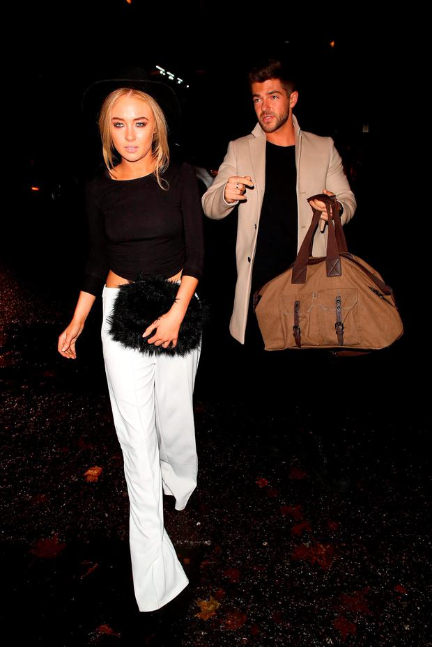 Nicola Hughes and Alex Mytton attending the Specsavers 'Spectacle Wearer of the Year' party on October 6, 2015 in London, England. (Photo by Mark Robert Milan/GC Images)